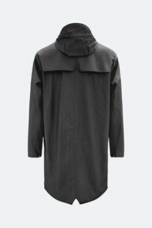 rains long jacket black dames kleding regenjas raincoat zwart
