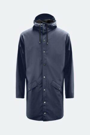 rains long jacket blue dames kleding regenjas raincoat