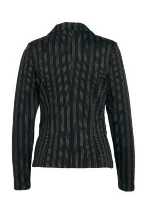 ichi blazer ruti black white striped dames kleding cobert zwart wit gestreept