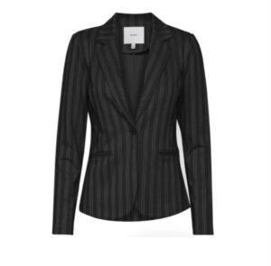 ichi blazer ruti black white striped krijtstreep dames kleding