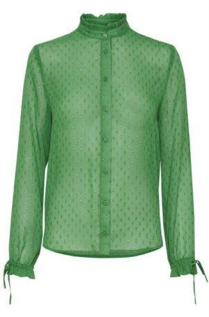 Ichi blouse comona amazon green groen goud dames kleding
