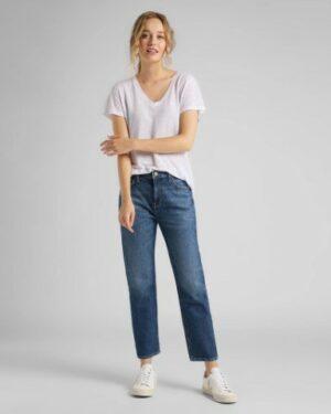 lee jeans carol straight vintage danny dames kleding spijkerbroek blauw