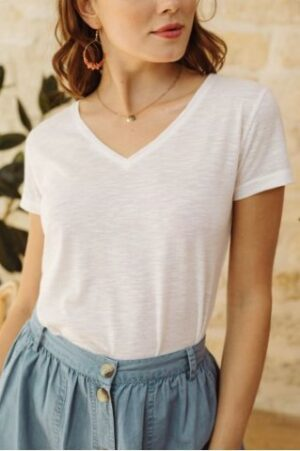 la petite etoile t-shirt elvie wit white dames kleding