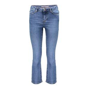 geisha jeans cropped flair mid denim blue dames kleding spijkerbroeken blauw