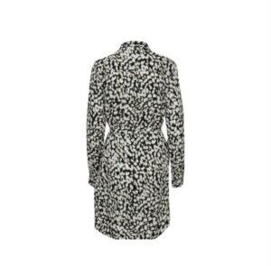 ichi jurk tuniek vera multi color dames kleding dress black white green