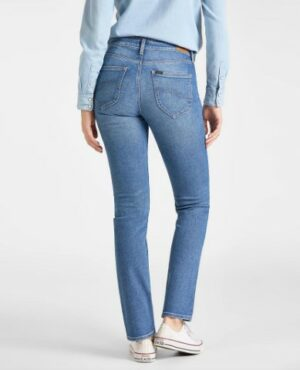 lee jeans marion classic straight mid hackett dames kleding spijkerbroek blauw