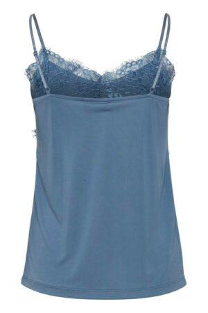 ichi top like coronet blue blauw kant dames kleding