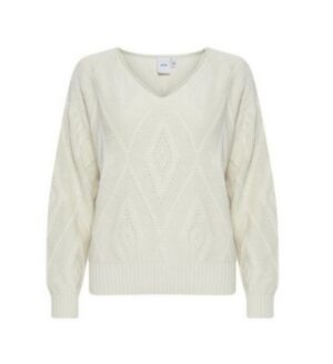 ichi trui laluha tapioca dames kleding off white creme sweater