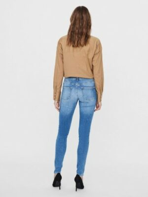 vero moda vmlux mr slim jeans light blue denim dames kleding spijkerbroeken blue