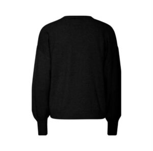ichi vest alpa black dames kleding zwart vest fijn gebreid