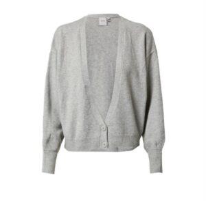ichi alpa vest grey melange grijs dames kleding