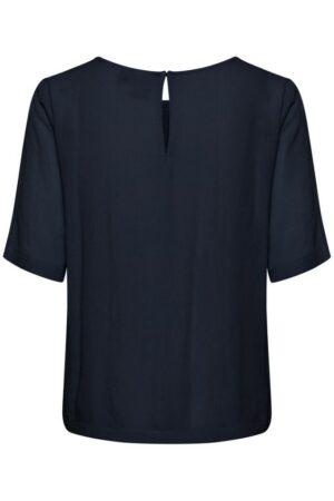 ichi blouse marrakech black short sleeve top korte mouw dames kleding zwart