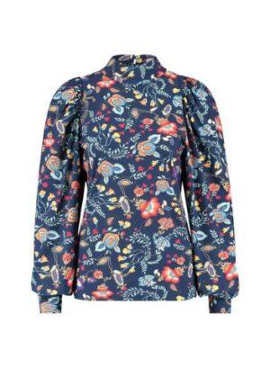 studio anneloes bo flower blouse classic blue blauw dames kleding