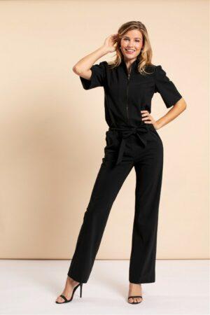 studio anneloes eliza zipper jumpsuit dames kleding black zwart
