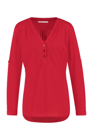 studio anneloes evi blouse red dames kleding rood top