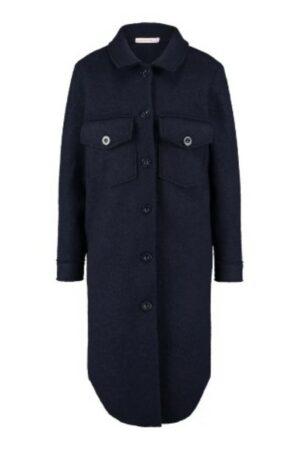 studio anneloes julie wool lumberjacket dark blue donkerblauw jas jassen dames kleding