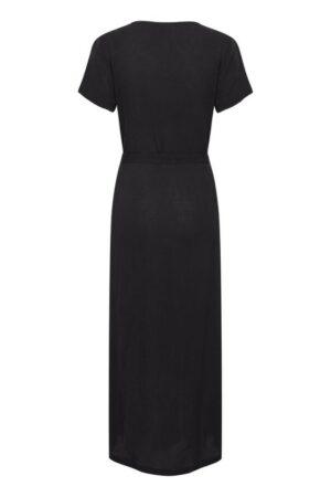 ichi jurk marrakech black long dress zwart