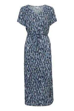 ichi rok marrakech total eclipse blauw blue lange jurk long dress dames kleding