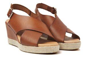 viavai neuroli nuez cognac sandalen dames schoenen bruin