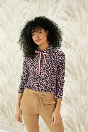 studio anneloes double dot shirt black camel fuchsia creme dames kleding blouse zwart camel