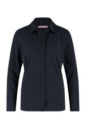 studio anneloes poppy pinstripe shirt dark blue off white dames kleding blauw wit gestreept