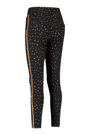 studio anneloes road cheeta trousers black camel dames kleding broek zwart met stippen bruin