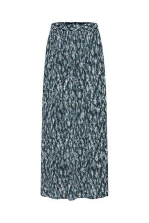 ichi rok marrakech total eclipse blauw blue lange rok long skirt dames kleding