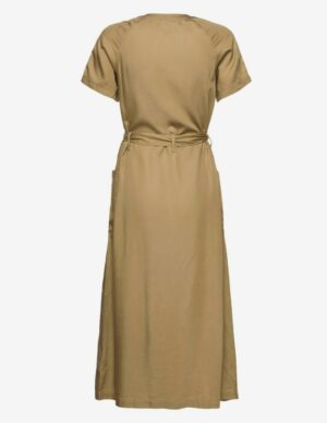 lee safari dress brown green sand jurk bruin groen zand dames kleding