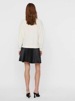 vero moda ena sweatshirt ecru dames kleding off white trui pofmouwtjes