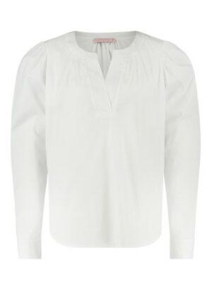 studio annelose wende poplin blouse white wit dames kleding