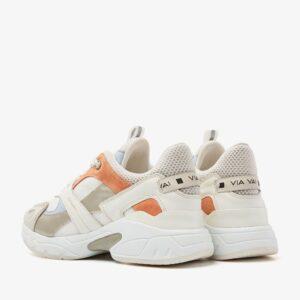 via vai sneaker vectra combi conchiglia zaira wit oranje orange white blue beige