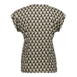 geisha top shirt met panter print v-hals glitter dames kleding
