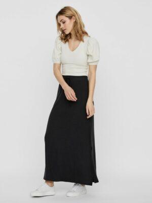 vero moda ava nw ancle skirt black rok zwart dames kleding