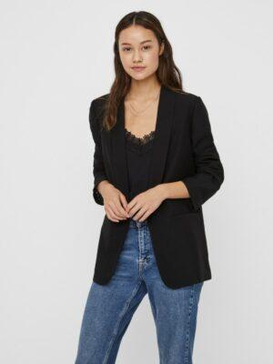 vero moda frances ls blazer black zwart cobert dames kleding