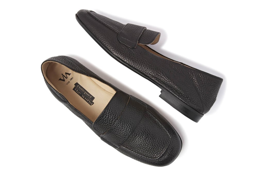 via vai indiana cleo loafers zwart black dames schoenen