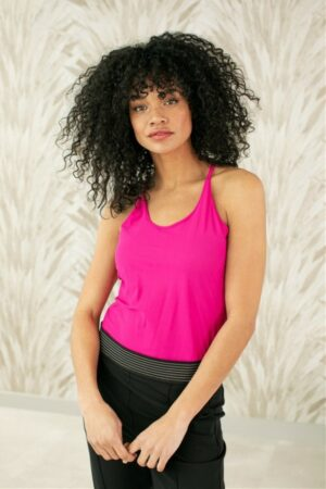 studio anneloes jazz top fuchsia pink roze singlet dames kleding