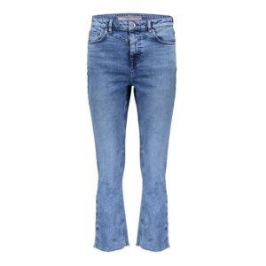 geisha high waist eco aware bleached blue denim spijkerbroek jeans blauw