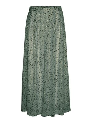 vero moda jot high waist ankle skirt laurel wreath green groen rok dames kleding