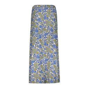 geisha long skirt isa blue paisley lange rok blauw dames kleding