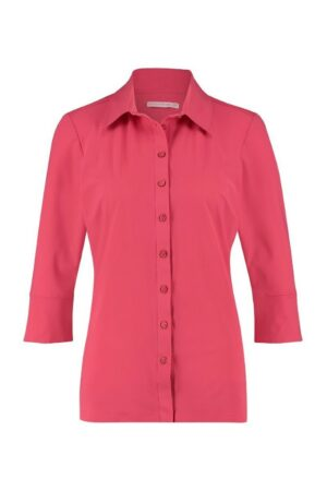 studio anneloes poppy cuff shirt raspberry blouse roze rood pink red dames kleding