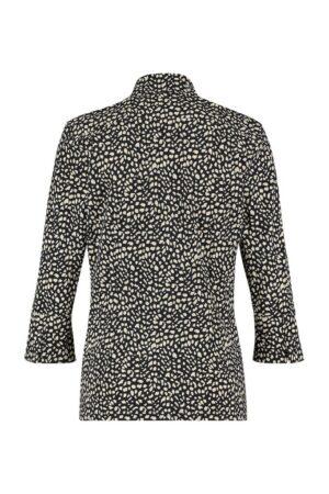 studio anneloes poppy cuff small spot shirt dark blue sahara donkerblauw sand zand blouse dames kleding