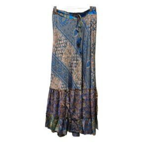 gold&silver rok julia grijs blauw grey blue skirt dames kleding