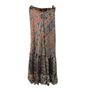gold&silver rok julia grijs rood grey red skirt dames kleding