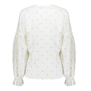geisha top off white blouse dames kleding