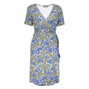 geisha wrap dress lizz blue paisley wikkeljurk blauw dames kleding