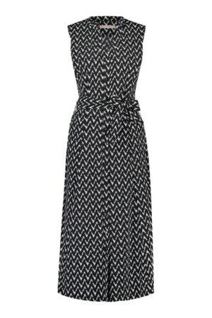 studio anneloes cindy sl zig zag dress black off white jurk zwart wit dames kleding