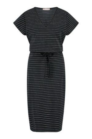 studio anneloes clarette striped dress black off white zwart wit gestreept dames kleding