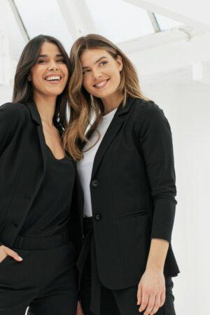 studio anneloes jodi midi blazer black zwart cobert dames kleding