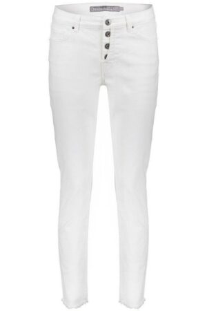 geisha pants with button closure white broek dames wit