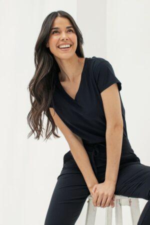 studio Anneloes roller shirt black zwart t-shirt dames kleding